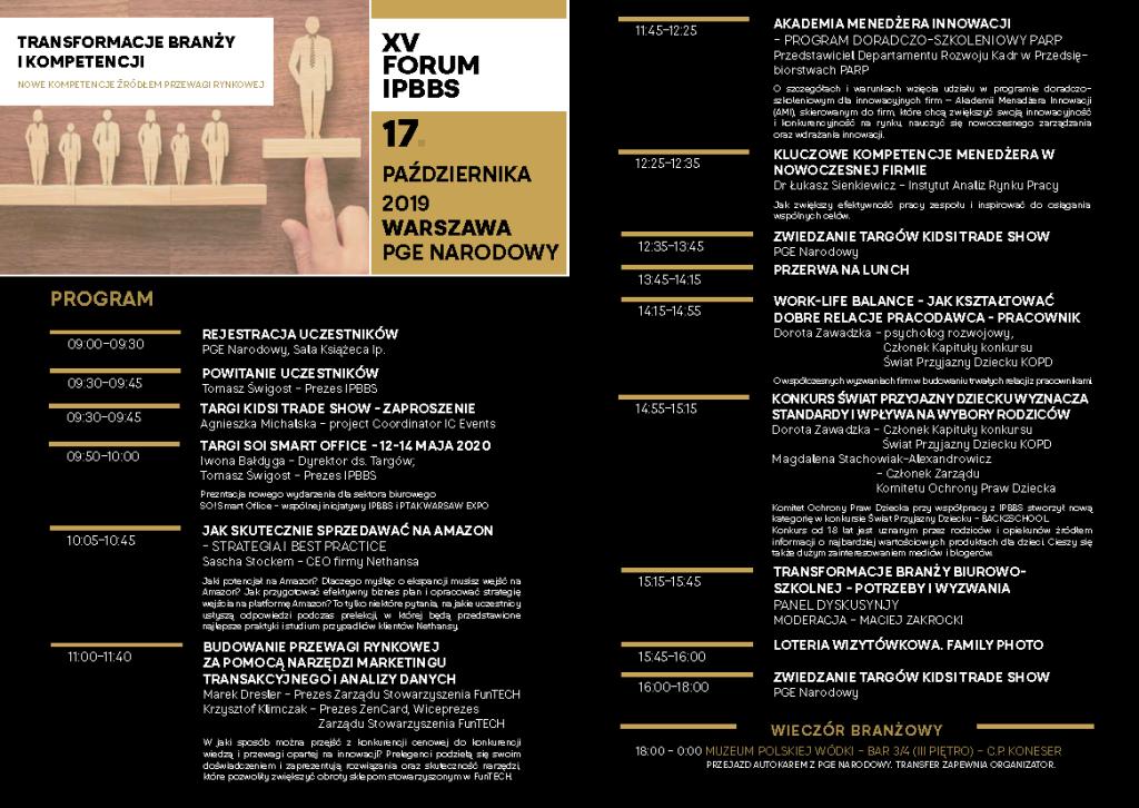 XV FORUM IPBBS AGENDA SZCZEGOLOWA_Strona_1