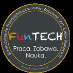 Naklejka_funTECH_kolo_gold_INFO